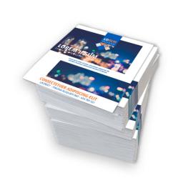 Volantini quadrati 14,8x14,8 stampa fronte/retro