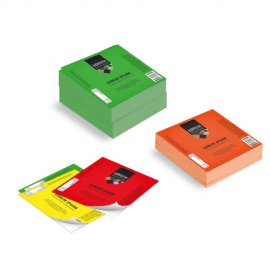 Etichette cm.5x5 adesiva fluorescente