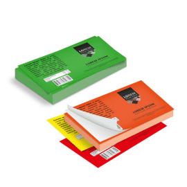 Etichette cm.5,5x8,5 adesiva fluorescente
