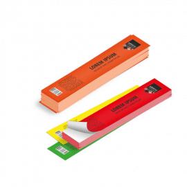 Etichette cm.3,5x21 adesiva fluorescente