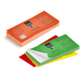 Etichette cm.7,4x21 adesiva fluorescente