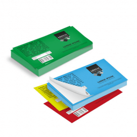 Etichette cm.5,2x7,4 adesiva colorata