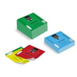 Etichette cm.5x5 adesiva colorata