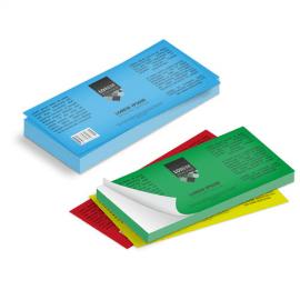 Etichette cm.3,5x10,5 adesiva colorata