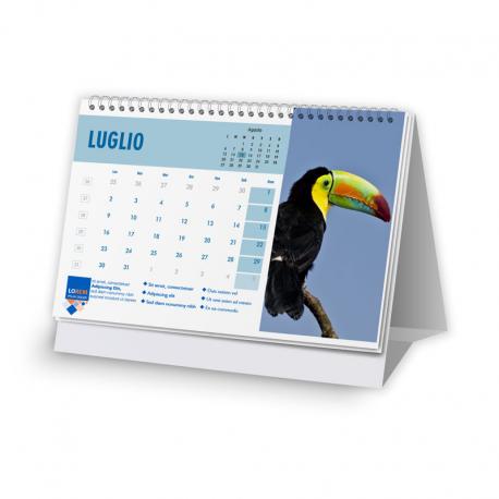 Calendario 14,8x10,5 - fogli 12+1