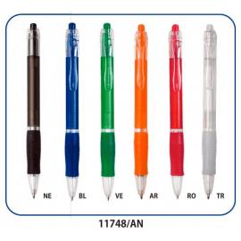 Penna in plastica trasparente