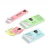 Etichette adesive in carta color pastello