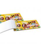 Biglietti numerati per lotterie e ingressi, ideali per voucher e prevendite.